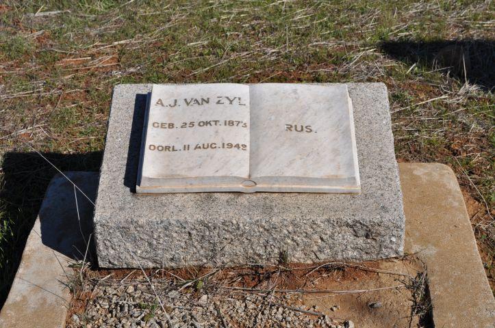 Van Zyl, AJ born 25 October 1873 died 11 August 1942