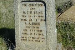 Brink, HCP born 15 August 1849 died 20 June 1930 + AJ nee Wiese born 06 February 1861 died 17 September 1948