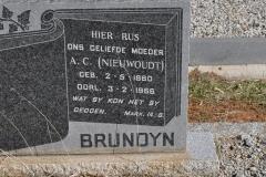 Brundyn, AC Niewoudt born 02 May 1880 died 03 February 1966