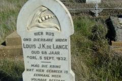 De Lange, Louis JK died 05 September 1932 aged 68 years