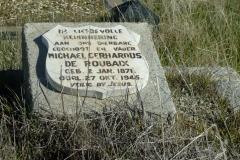 De Roubaix, Michael Gerhardus born 02 January 1871 died 27 October 1945