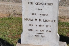 Loubser, Maria MM born 19 March 1875 died 08 April 1956