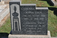 Louw, Catherina Maria born 25 March 1906 died 17 December 1956