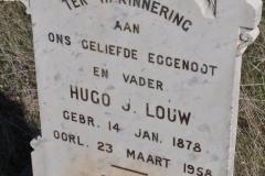 Louw, Hugo J born 14 January 1878 died 23 March 1958