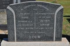 Louw, Maria Petronella nee Engelbrecht born 05 February 1892 died 18 August 1976 + Jacobus Adriaan born 21 September 1887 died 04 August 1956