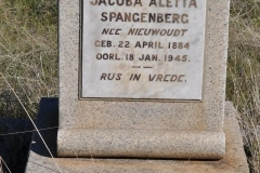 Spangenberg, Jacoba Aletta nee Niewoudt born 22 April 1884 died 18 April 1945