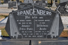 Spangenberg, Johannes Petrus Pauls born 30 April 1920 died 16 January 1987 + Wilhelmina Jacoba nee Smit born 24 July 1911 died 06 May 1999
