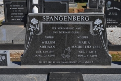 Spangenberg, Willem Adriaan born 05 October 1917 died 23 June 2001 + Maria Magrietha nee Nel born 05 June 1918 died 06 March 2001