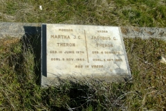 Theron, Martha JC born 10 June 1874 died 08 November 1945 + Jacobus C born 04 December 1870 died 02 October 1957