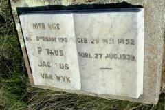 Van Wyk, Petrus Jacobus born 29 May 1852 died 27 August 1939