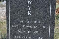 Van Wyk, Rosa Hermina nee Moller born 03 January 1885 died 04 November 1964