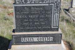 Van Wyk, Schalk Willem born 12 August 1883 died 12 June 1951