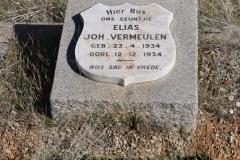 Vermeulen, Joh born 23 April 1934 died 12 December 1934