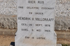 Vollegraaff, Hendrik H born 14 September 1878 died 09 May 1965