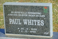 Whites, Paul born 20 May 1920 died 04 June 1999