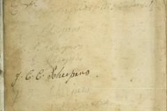 List of family members on front cover