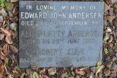 Anderson, Edward John + Anderson, Alice Letty + Anderson, Robert Clive