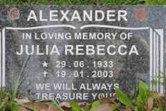 Alexander, Julia Rebecca