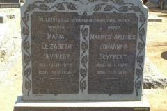 Seyffert, Maria Elizabeth and Seyffert Mathys Andries Johannes