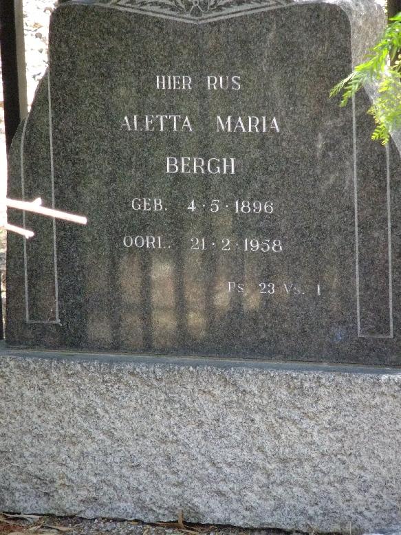 Bergh, Aletta Maria