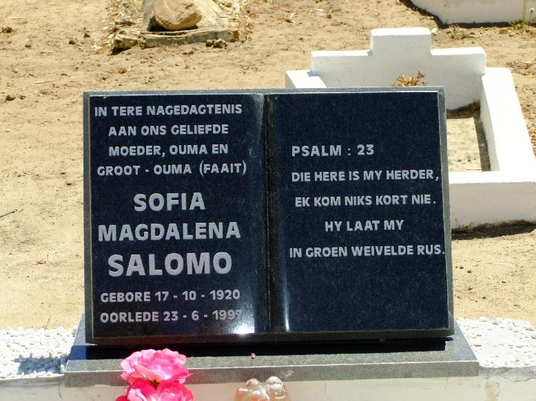 Salomo, Sofia Magdalena