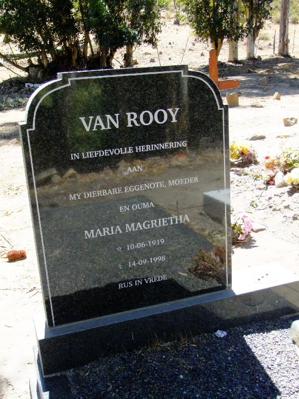 van Rooy, Maria Magrietha