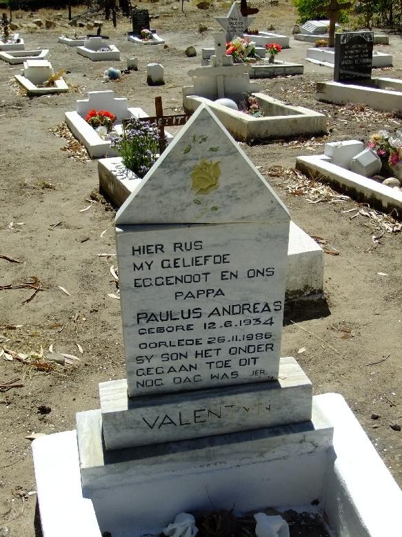 Valentyn, Paulus Andreas