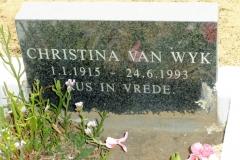 Van Wyk, Christina