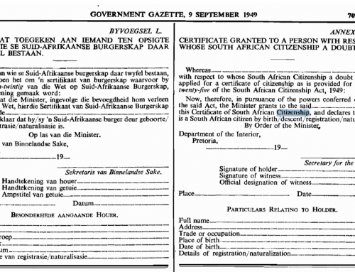 South African Citizenship Act 1949